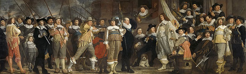 Helst, Bartholomeus van der -- Officieren en andere schutters van wijk VIII in Amsterdam onder leiding van kapitein Roelof Bicker en luitenant Jan Michielsz Blaeuw, 1639. Rijksmuseum: part 1