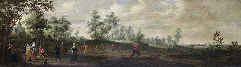 Питер Мёленер -- Танцующая пара на фоне пейзажа, 1645. Рейксмузеум: часть 1