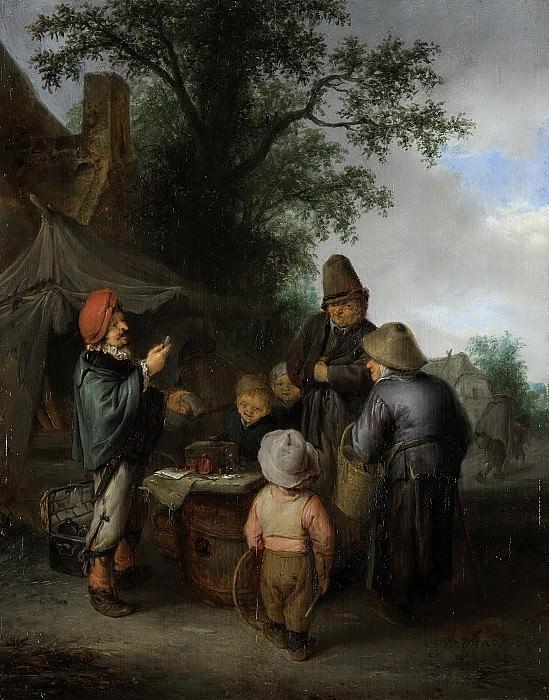 Ostade, Adriaen van -- De kwakzalver, 1648. Rijksmuseum: part 1