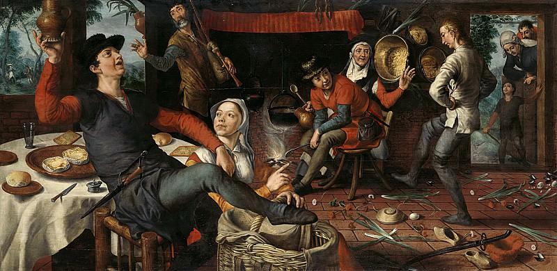 Aertsen, Pieter -- De eierdans, 1552. Rijksmuseum: part 1