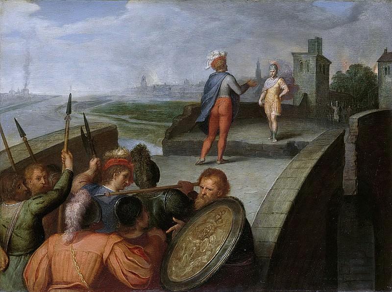 Veen, Otto van -- De vredesonderhandelingen tussen Claudius Civilis en de Romeinse aanvoerder Cerealis, 1600-1613. Rijksmuseum: part 1