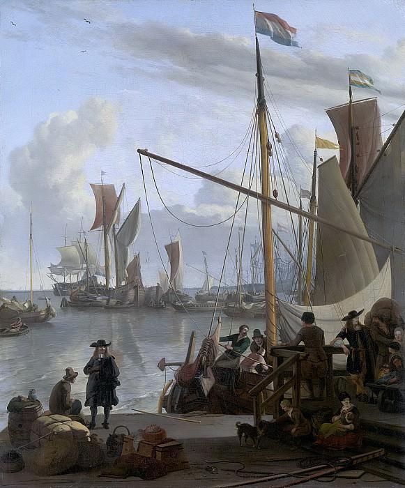 Bakhuysen, Ludolf -- Het IJ voor Amsterdam, van de Mosselsteiger gezien, 1673. Rijksmuseum: part 1
