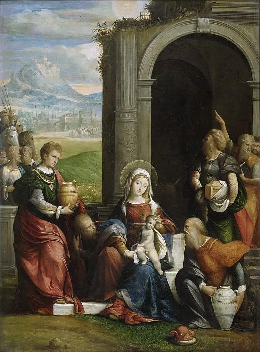 Бенвенуто Тизи да Гарофало -- Поклонение волхвов, 1530-1540. Рейксмузеум: часть 1