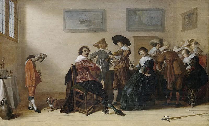 Palamedesz., Anthonie -- Vrolijk gezelschap in een kamer, 1633. Rijksmuseum: part 1
