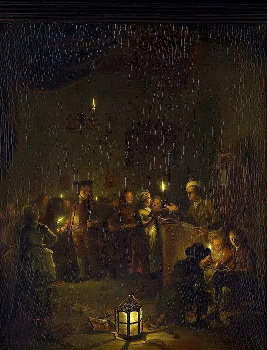 Versteegh, Michiel -- De avondschool, 1786. Rijksmuseum: part 1