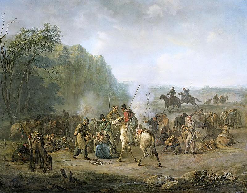Moritz, Louis -- Kozakkennachtleger, 1813, 1813 - 1814. Rijksmuseum: part 1
