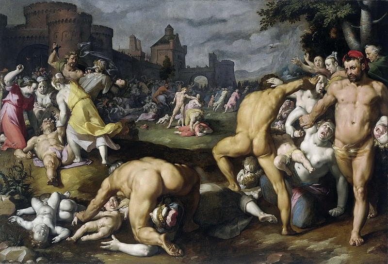 Cornelisz. van Haarlem, Cornelis -- De kindermoord te Bethlehem, 1590. Rijksmuseum: part 1