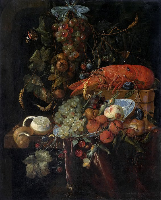 Heem, Jan Davidsz. de -- Stilleven met vruchten en een kreeft, 1640-1700. Rijksmuseum: part 1