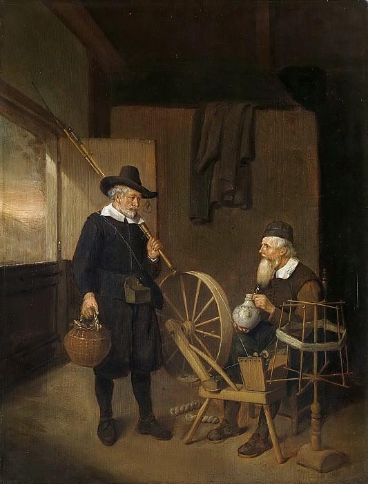 Brekelenkam, Quiringh Gerritsz. van -- Interieur met hengelaar en man bij spoelrad en haspel., 1663. Rijksmuseum: part 1