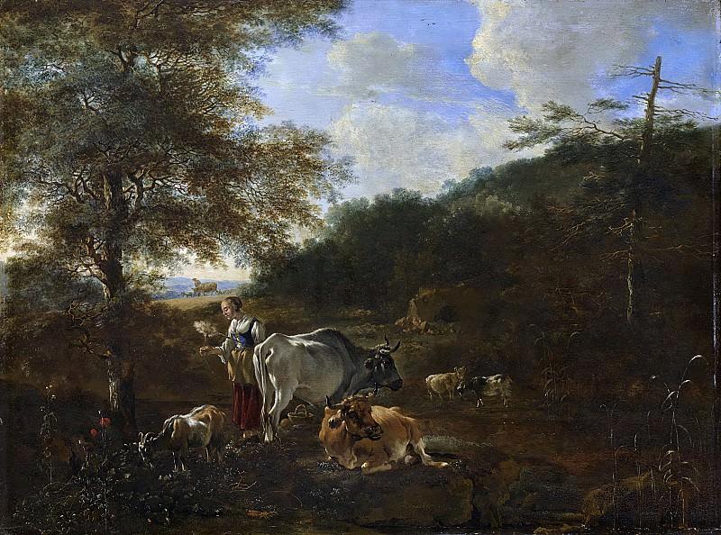 Адам Пейнакер -- Домашний скот в холмистой местности, 1649-1653. Рейксмузеум: часть 1