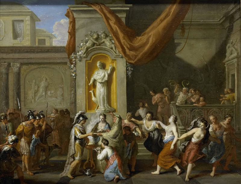 Hoet, Gerard (I) -- Het huwelijk van Alexander de Grote met Roxane van Bactrië, 1670-1733. Rijksmuseum: part 1