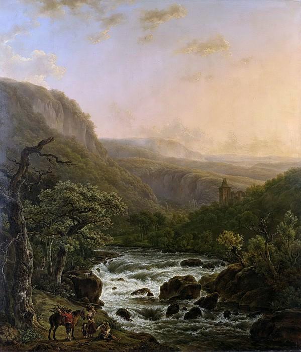 Assche, Henri van -- Rivier in de Ardennen bij zonsondergang, 1821. Rijksmuseum: part 1
