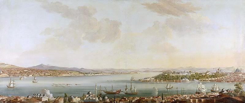 Steen, Jan van der -- Gezicht op Constantinopel en het Serail vanuit de Zweedse ambassade te Pera, 1770 - 1780. Rijksmuseum: part 1