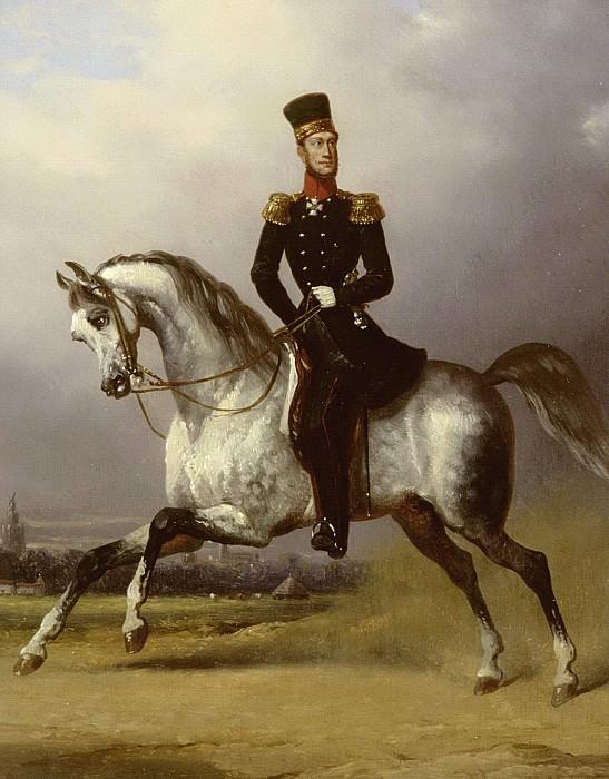 Pieneman, Nicolaas -- Willem II (1792-1849), koning der Nederlanden, te paard, 1830 - 1850. Rijksmuseum: part 1