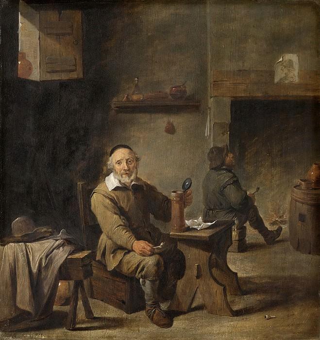 Давид Тенирс (II) -- Старый любитель пива, 1640-1660. Рейксмузеум: часть 1