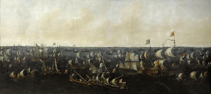 Verwer, Abraham de -- De slag op de Zuiderzee, 6 oktober 1573, 1621. Rijksmuseum: part 1