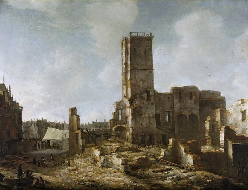 Beerstraten, Jan Abrahamsz. -- De puinhopen van het Oude Stadhuis te Amsterdam na de brand van 7 juli 1652., 1652-1666. Rijksmuseum: part 1