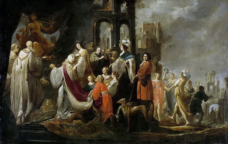 Якоб Хогерс -- Триумф царя Соломона, 1635-55. Рейксмузеум: часть 1