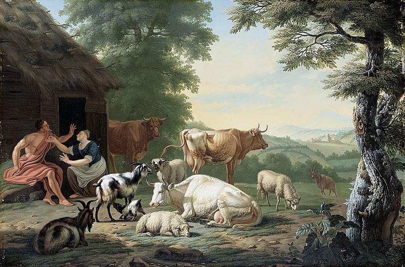 Gool, Jan van -- Arcadisch landschap met herders en vee, 1710 - 1763. Rijksmuseum: part 1