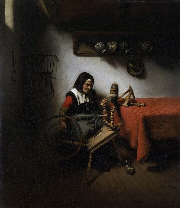 Николас Мас -- Пряха, 1650-1660. Рейксмузеум: часть 1