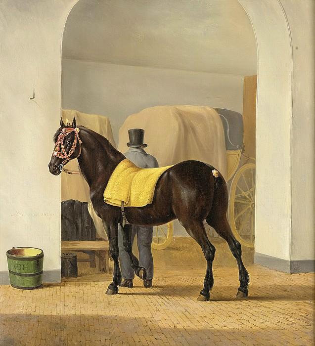 Oberman, Anthony -- De harddraver 'De Rot' van Adriaan van der Hoop bij het koetshuis, 1828. Rijksmuseum: part 1