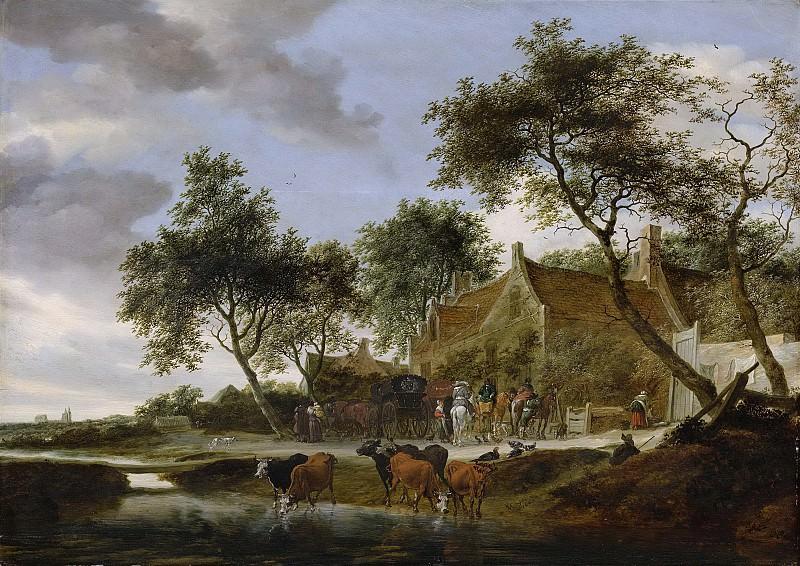 Ruysdael, Salomon van -- Pleisterplaats, 1660. Rijksmuseum: part 1
