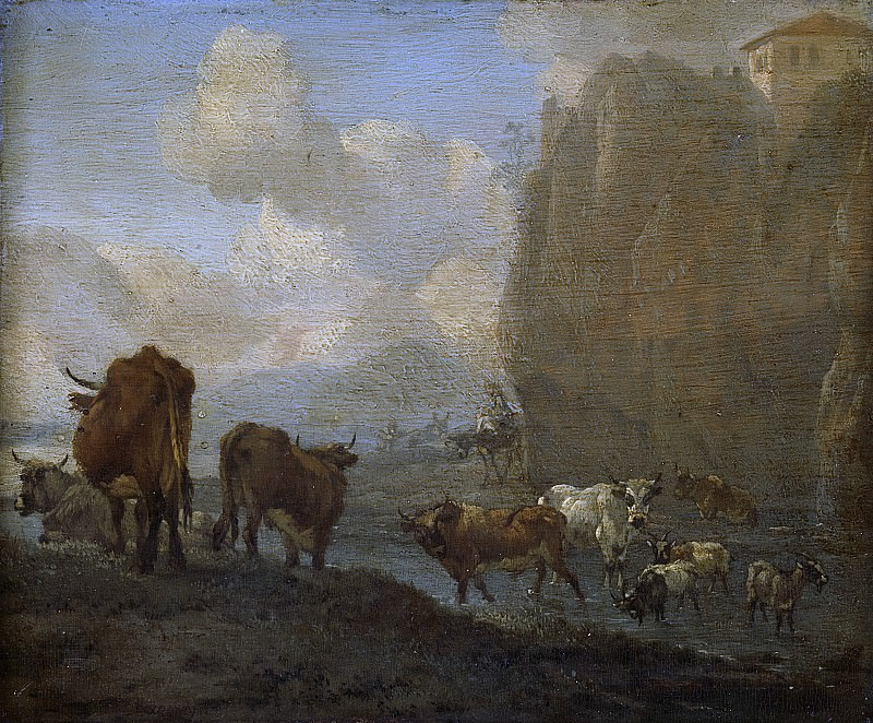 Romeyn, Willem -- Kudde bij een rivier, 1650-1694. Rijksmuseum: part 1