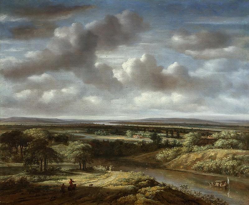 Koninck, Philips -- Rivierlandschap, 1676. Rijksmuseum: part 1
