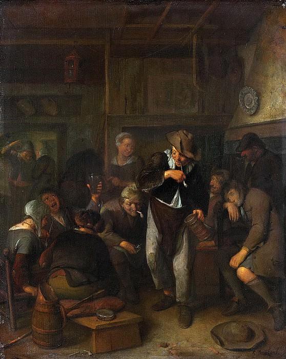 Ричард Бракенбург -- Крестьянский трактир, 1660-1702. Рейксмузеум: часть 1