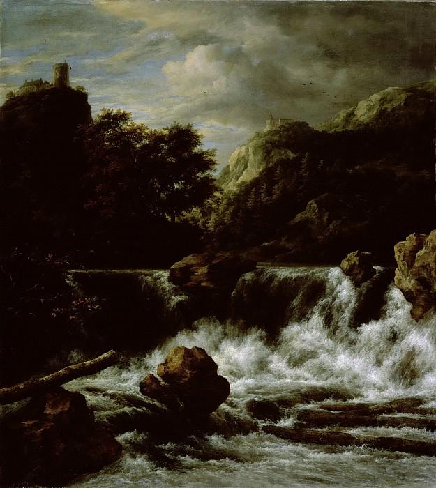 Якоб Исакс ван Рейсдаль -- Водопад в гористой местности, 1650 - 1682. Рейксмузеум: часть 1