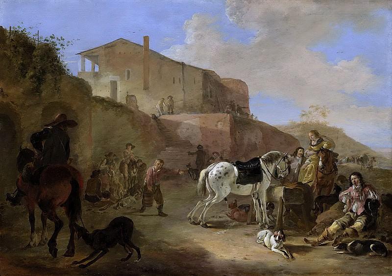 Stoop, Dirk -- Jachtpartij, 1649. Rijksmuseum: part 1