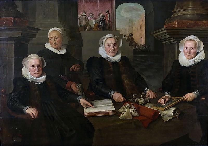 Valckert, Werner van den -- Drie regentessen en de binnenmoeder van het leprozenhuis te Amsterdam, 1624. Rijksmuseum: part 1