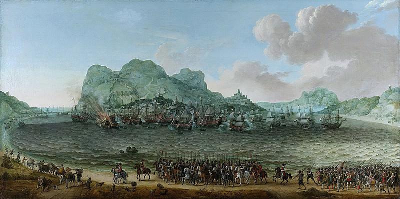 Willaerts, Adam -- De overwinning op de Spanjaarden bij Gibraltar door een vloot onder bevel van admiraal Jacob van Heemskerck, 25 april 1607, 1617. Rijksmuseum: part 1