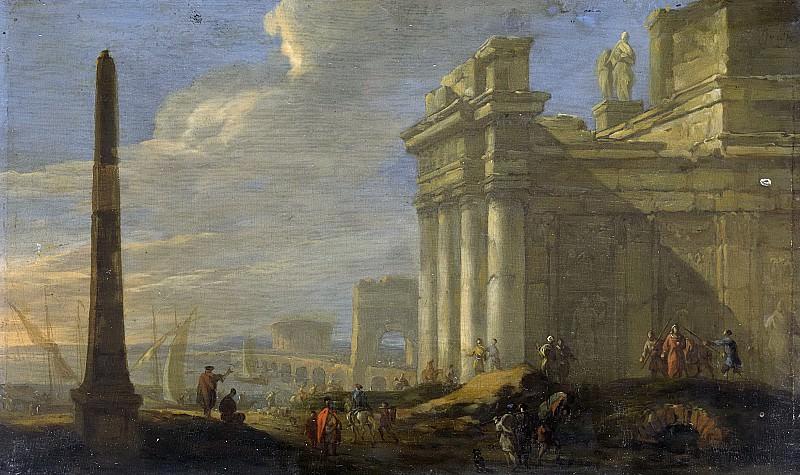 Якоб ван дер Ульфт - Вид итальянской гавани, 1650-1689. Рейксмузеум: часть 1