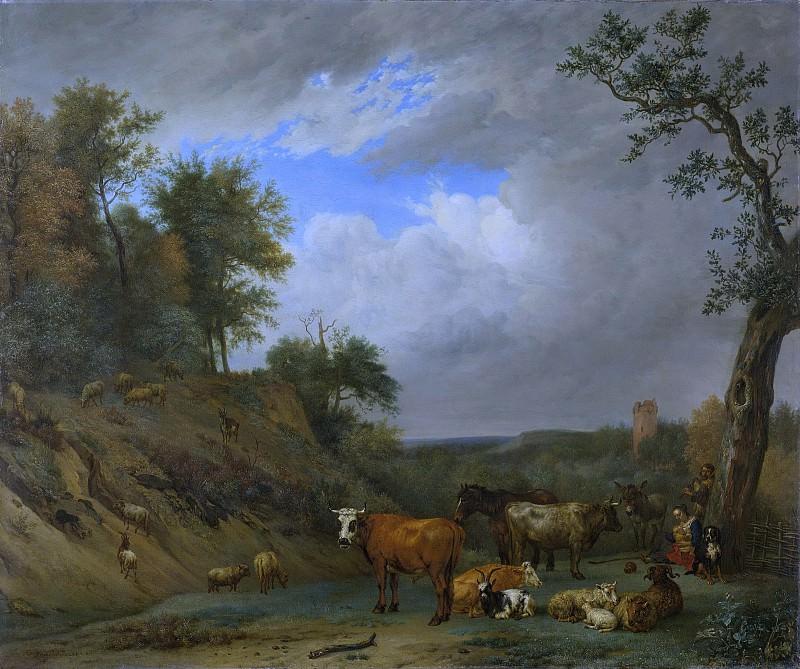 Potter, Paulus -- Herders met hun vee, 1651. Rijksmuseum: part 1