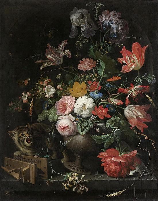 Mignon, Abraham -- De omvergeworpen ruiker, 1660-1679. Rijksmuseum: part 1
