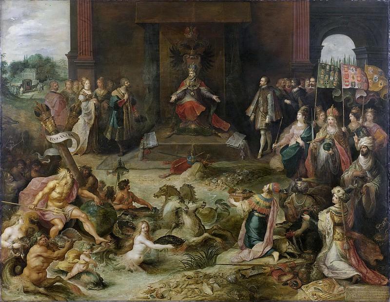 Francken, Frans (II) -- Allegorie op de troonsafstand van keizer Karel V te Brussel, 25 oktober 1555, 1600-1642. Rijksmuseum: part 1