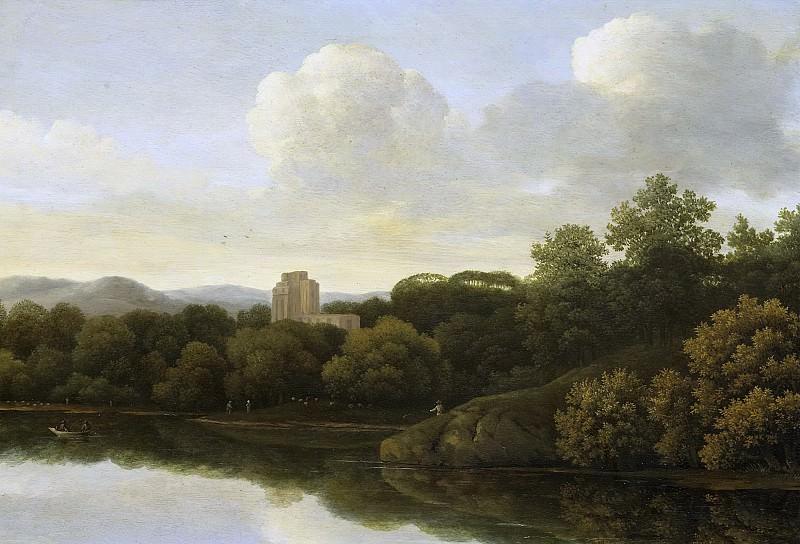 Lagoor, Johan de -- Boslandschap met rivier, 1645 - 1680. Rijksmuseum: part 1