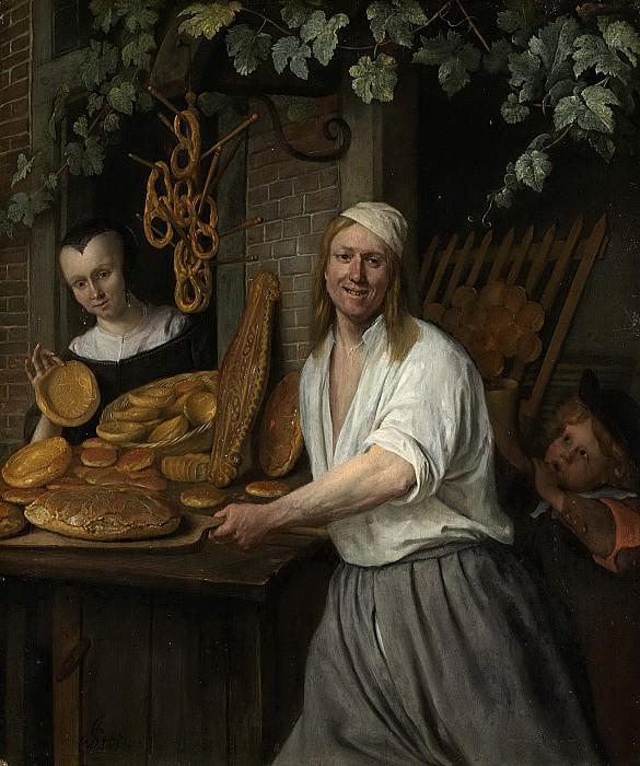 Steen, Jan Havicksz. -- Bakker Arent Oostwaard en zijn vrouw Catharina Keizerswaard, 1658. Rijksmuseum: part 1