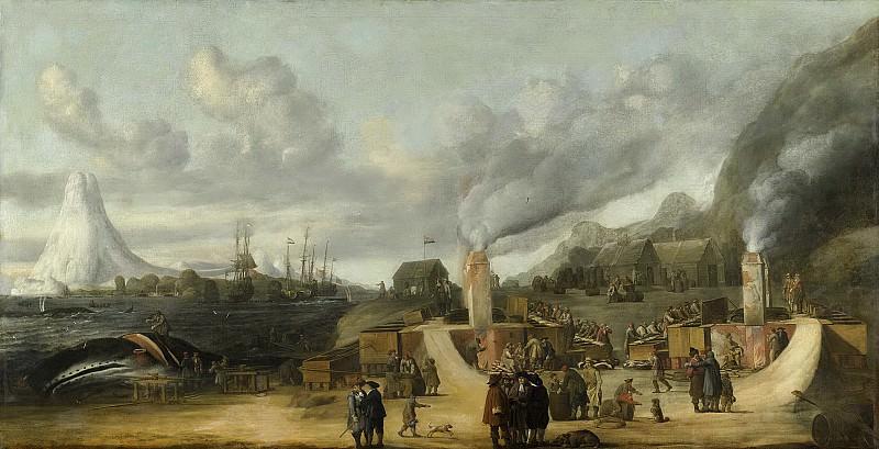 Man, Cornelis de -- De traankokerij van de Amsterdamse Kamer der Groenlandse Compagnie op Amsterdam Eiland bij Spitsbergen, 1639. Rijksmuseum: part 1