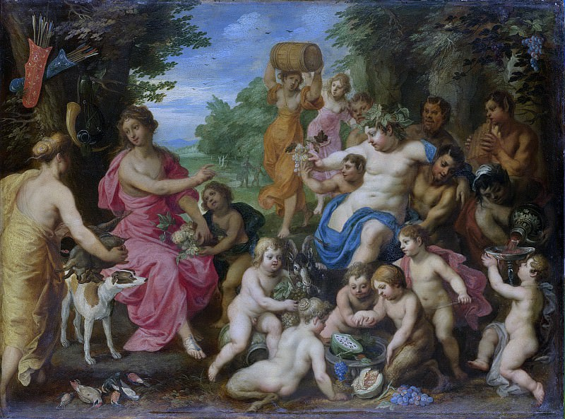 Хендрик ван Бален (I) - Вакх и Диана, 1600-32. Рейксмузеум: часть 1