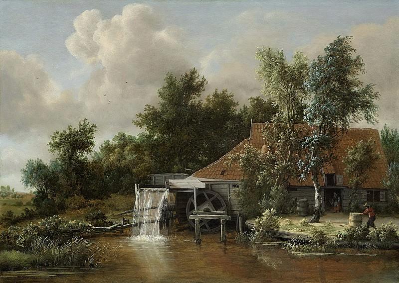 Hobbema, Meindert -- Een watermolen, 1662-1668. Rijksmuseum: part 1