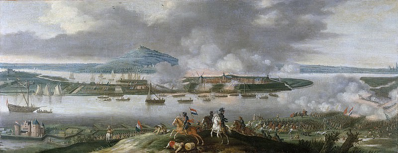 Santen, Gerrit van -- Het beleg van Schenckenschans door prins Frederik Hendrik, april 1636, 1636 - 1650. Rijksmuseum: part 1