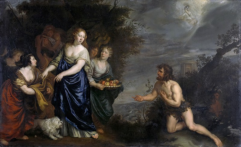 Иоахим фон Сандрарт -- Одиссей и Навсикая, 1630 - 1688. Рейксмузеум: часть 1