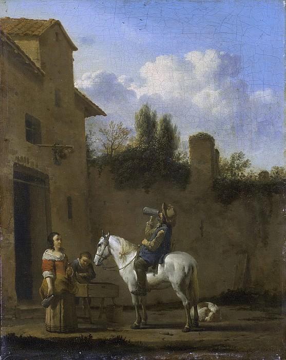 Dujardin, Karel -- Drinkende trompetter te paard, 1650-1660. Rijksmuseum: part 1