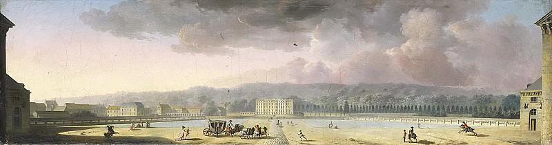 Sallembier, Henri -- Gezicht op een paleis in een heuvellandschap, 1780 - 1820. Rijksmuseum: part 1