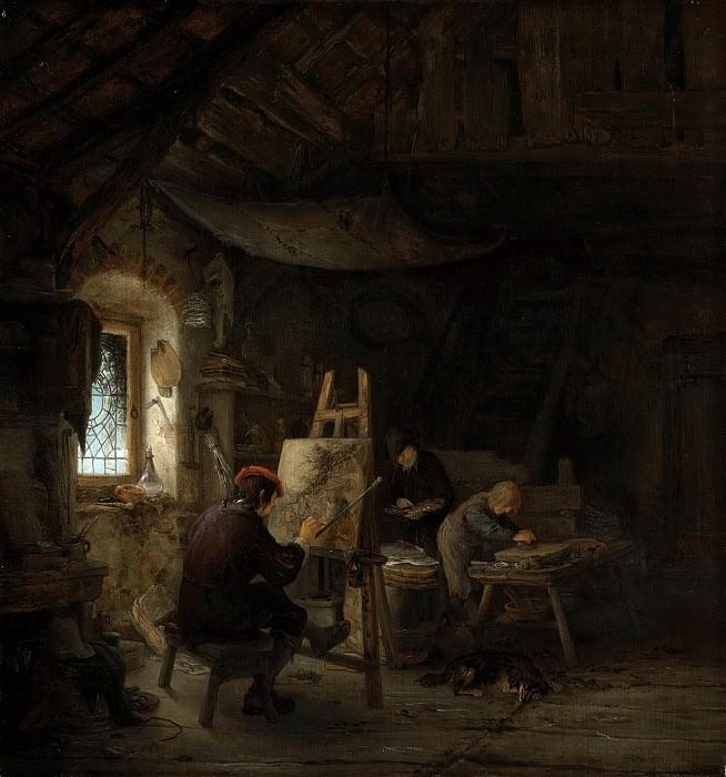 Ostade, Adriaen van -- Schildersatelier, 1630-1685. Rijksmuseum: part 1