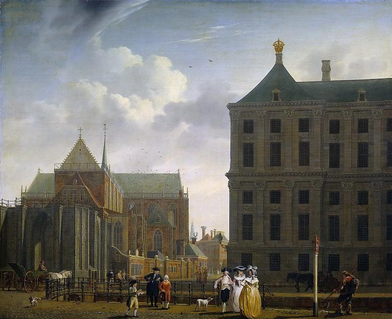 Ouwater, Isaac -- De nimmer voltooide toren van de Nieuwe Kerk en de achterkant van het Stadhuis te Amsterdam, 1780-1790. Rijksmuseum: part 1
