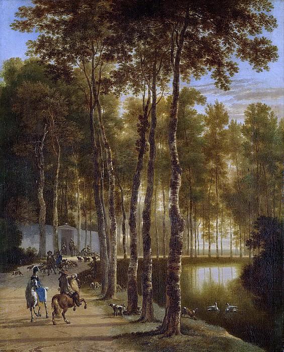 Ян Хакерт -- Березовая аллея, 1660-1685. Рейксмузеум: часть 1