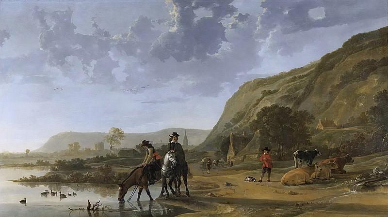 Cuyp, Aelbert -- Rivierlandschap met ruiters, 1653 - 1657. Rijksmuseum: part 1